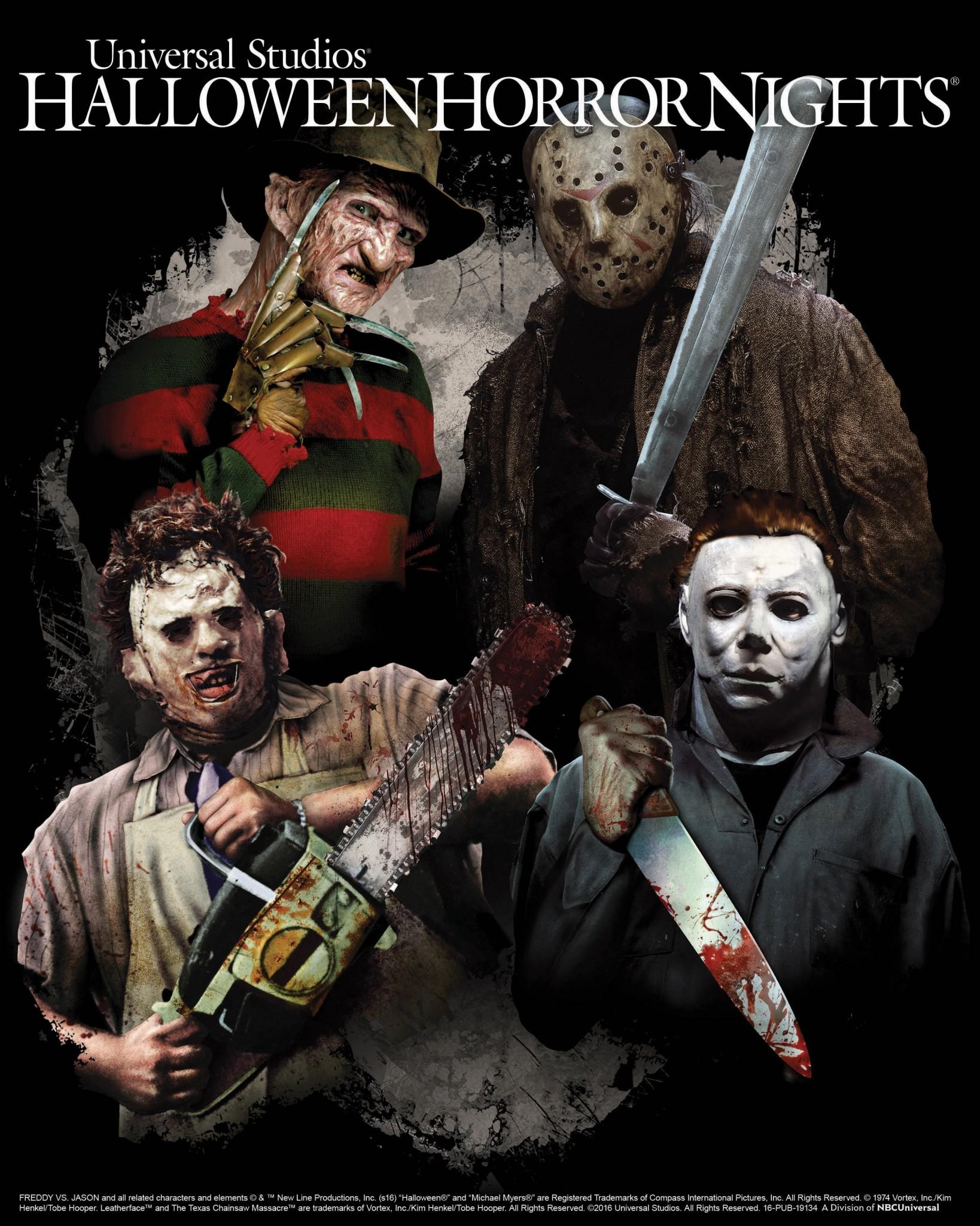 Freddy Krueger, Jason Voorhees and Leatherface